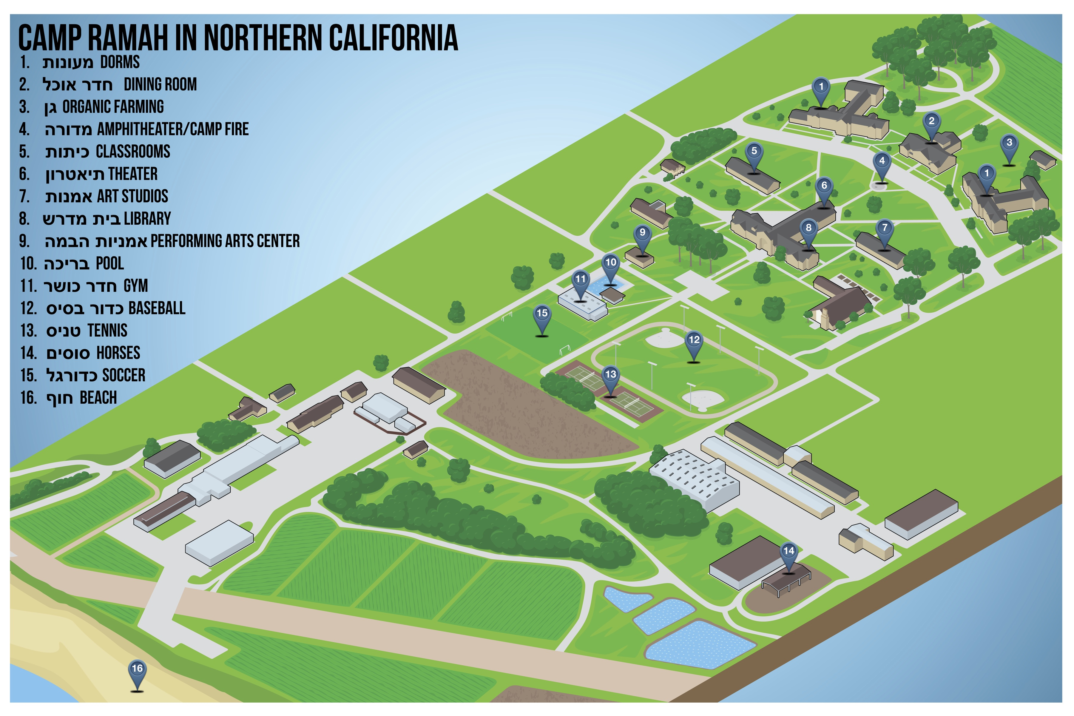 Facilities | Camp Ramah Northern California on