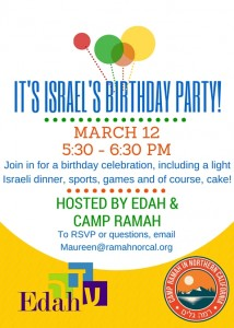 It's israel's BIRTHDAY PARTY!
